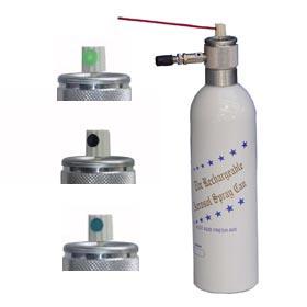 Refillable Aerosol Paint Can