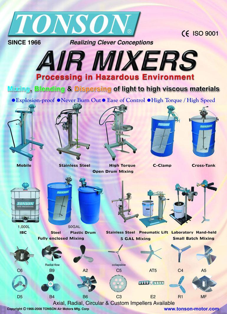 Air Mixer, air agitator, mixing equipment by TONSON Air